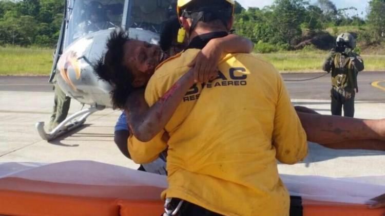 Una madre y su bebé pasan cinco días en la selva colombiana tras un accidente aéreo