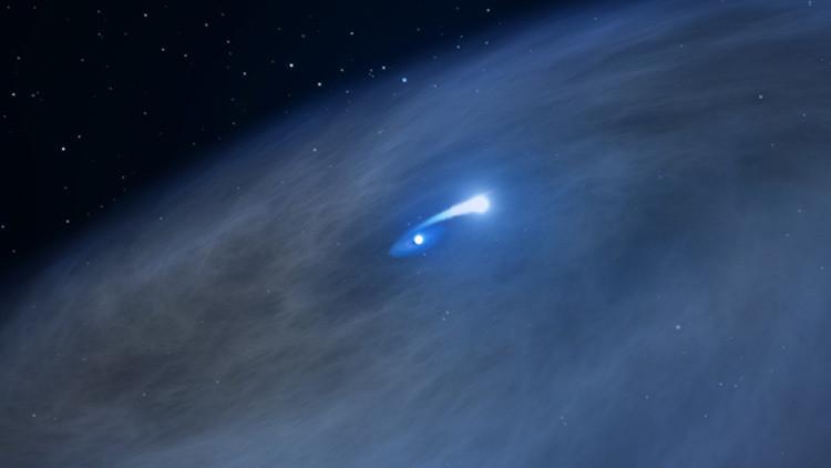 Canibalismo espacial: a la estrella rara 'Nasty 1 ' la está comiendo su compañera