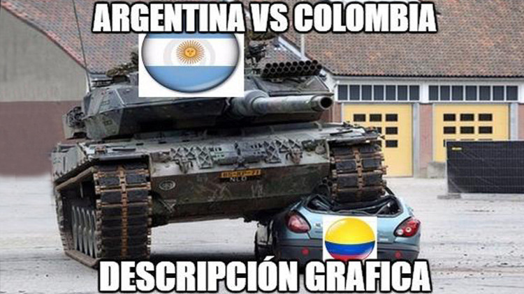 Los memes más divertidos sobre la victoria de Argentina ante Colombia
