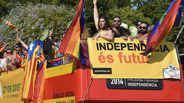 Barcelona celebra la segunda 'Motorada por la Independencia' (fotos)