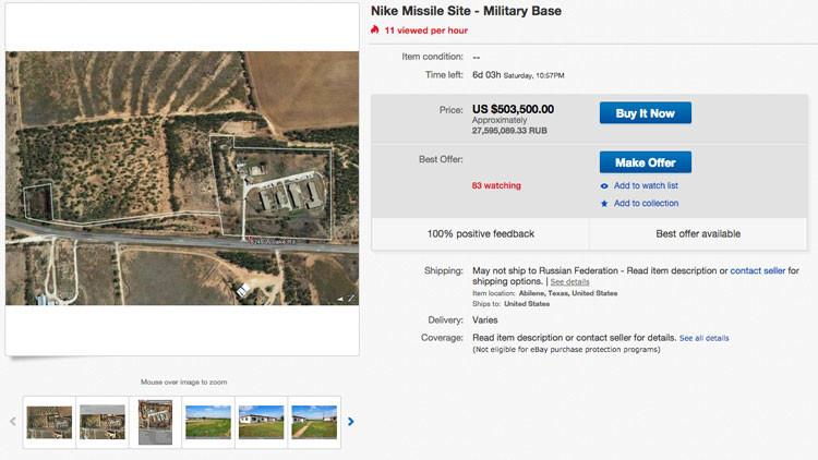 Base militar de EE.UU. de los años de la Guerra Fría, a la venta en eBay