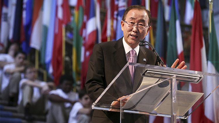"""Ban Ki-moon alerta de que el mundo corre el riesgo de entrar en el """"caos climático"""""""