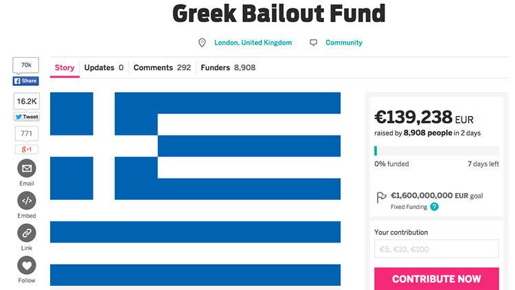 Y si cada europeo dona 3 euros... ¿podríamos salvar a Grecia?