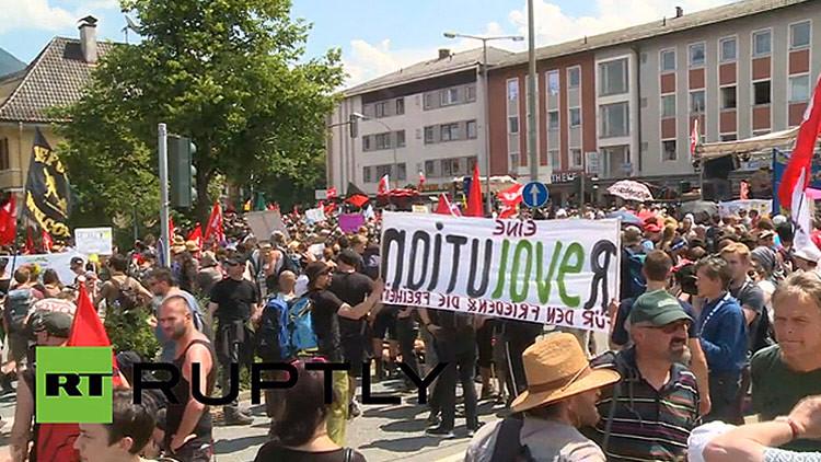 EN VIVO: Multitudinaria protesta en Alemania contra la cumbre del G7