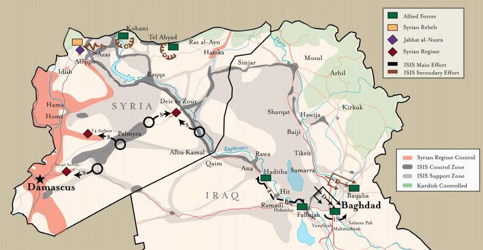 Estado Islamico Mapa Actual.Mapa Como Actuara El Estado Islamico En Las Proximas