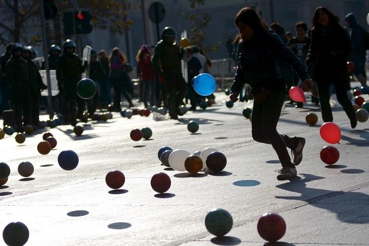 Insólita acción estudiantil en Chile