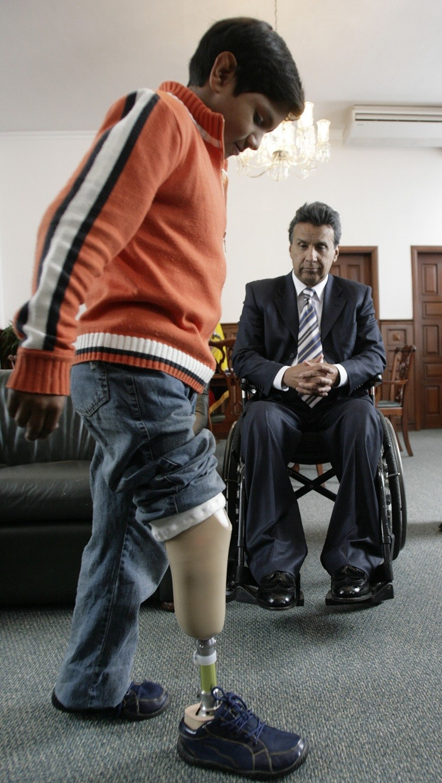 El enviado especial de la ONU para asuntos de accesibilidad, Lenín Moreno,