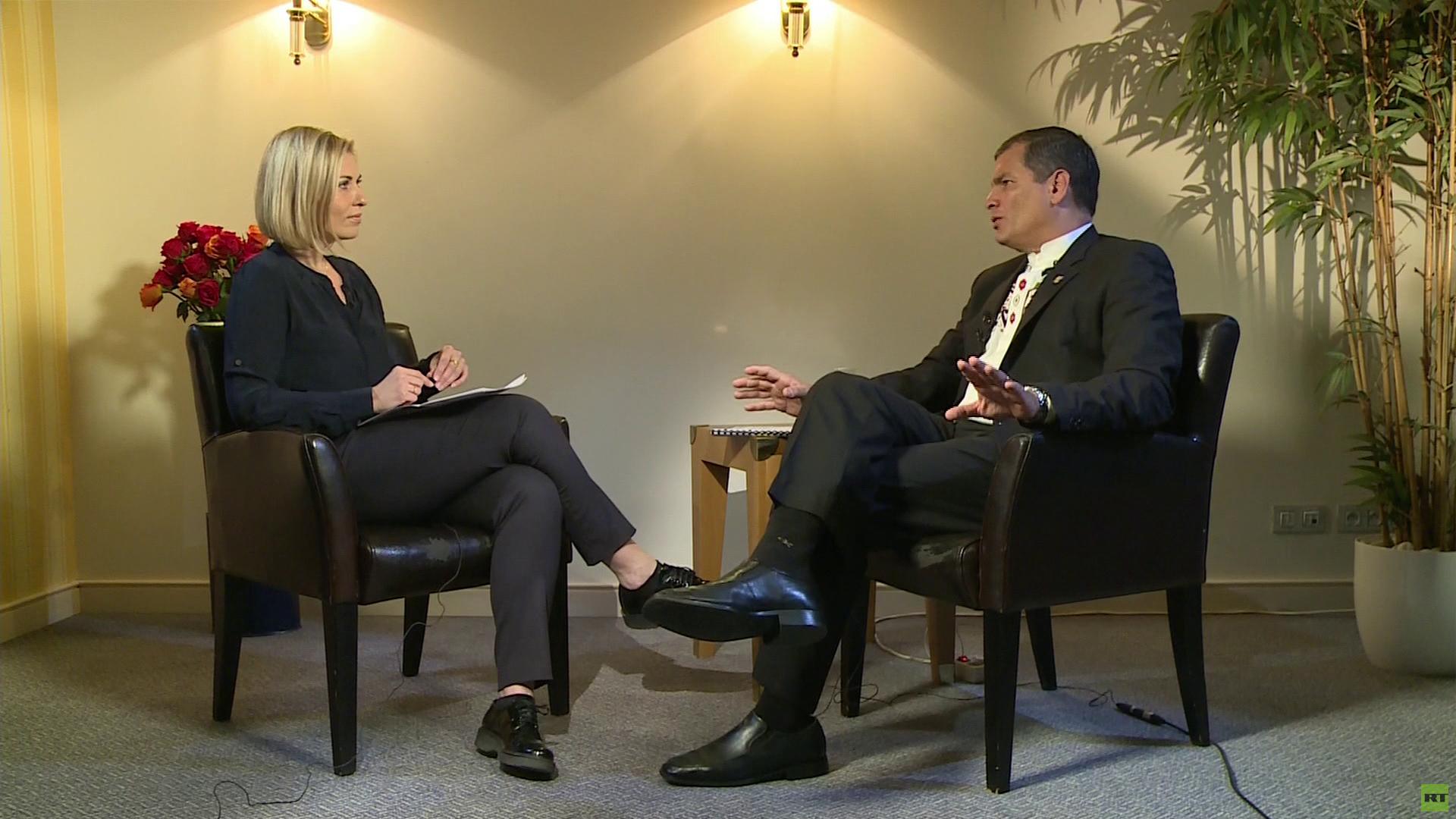 El presidente de Ecuador, Rafael Correa, y Jelena Milincic