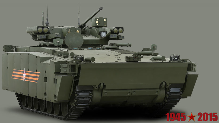 El vehículo de combate de infantería T-15 sobre la plataforma Armata