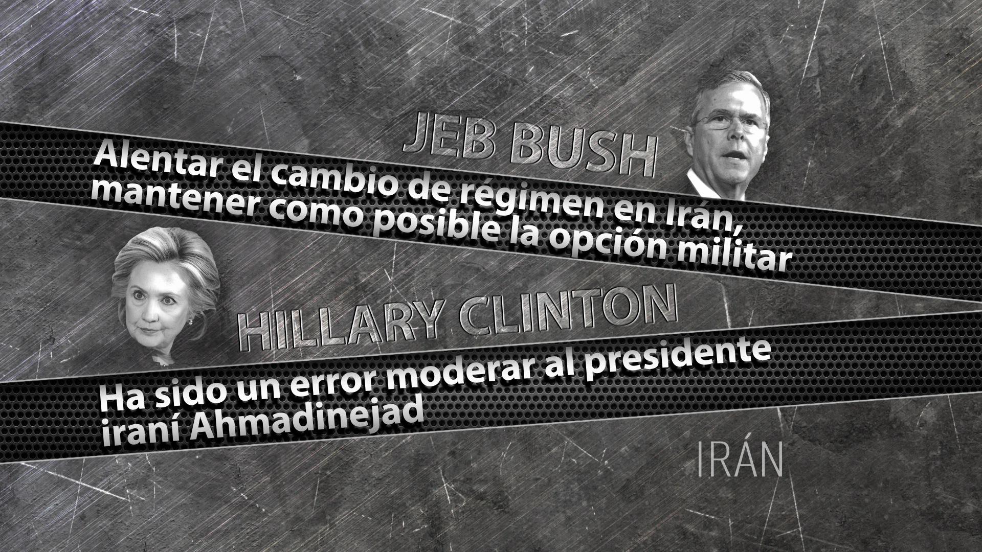 Las posturas de Jeb Bush y Hillary Clinton sobre Irán