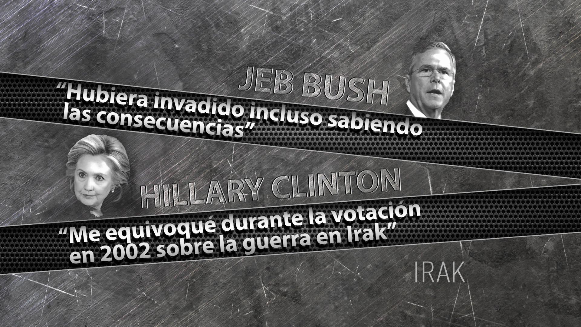 Las posturas de Jeb Bush y Hillary Clinton sobre Irak