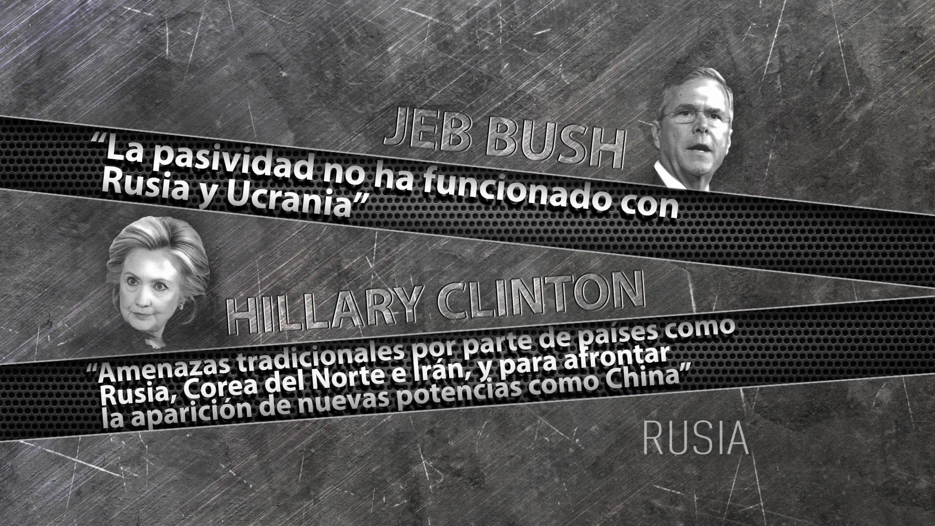 Las posturas de Jeb Bush y Hillary Clinton sobre Rusia