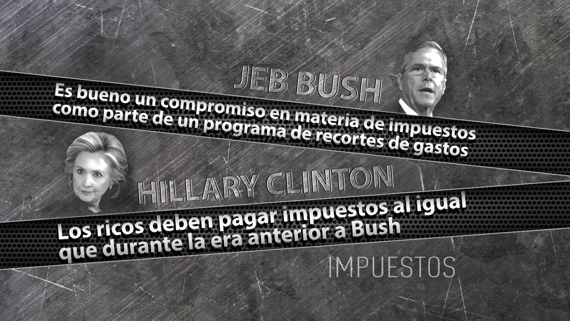 Las posturas de Jeb Bush y Hillary Clinton sobre los impuestos