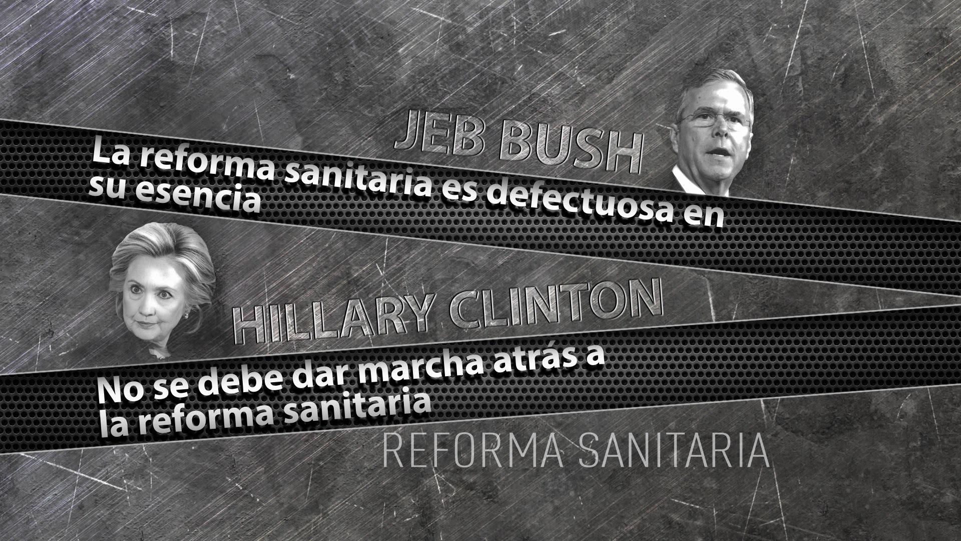Las posturas de Jeb Bush y Hillary Clinton sobre la reforma sanitaria