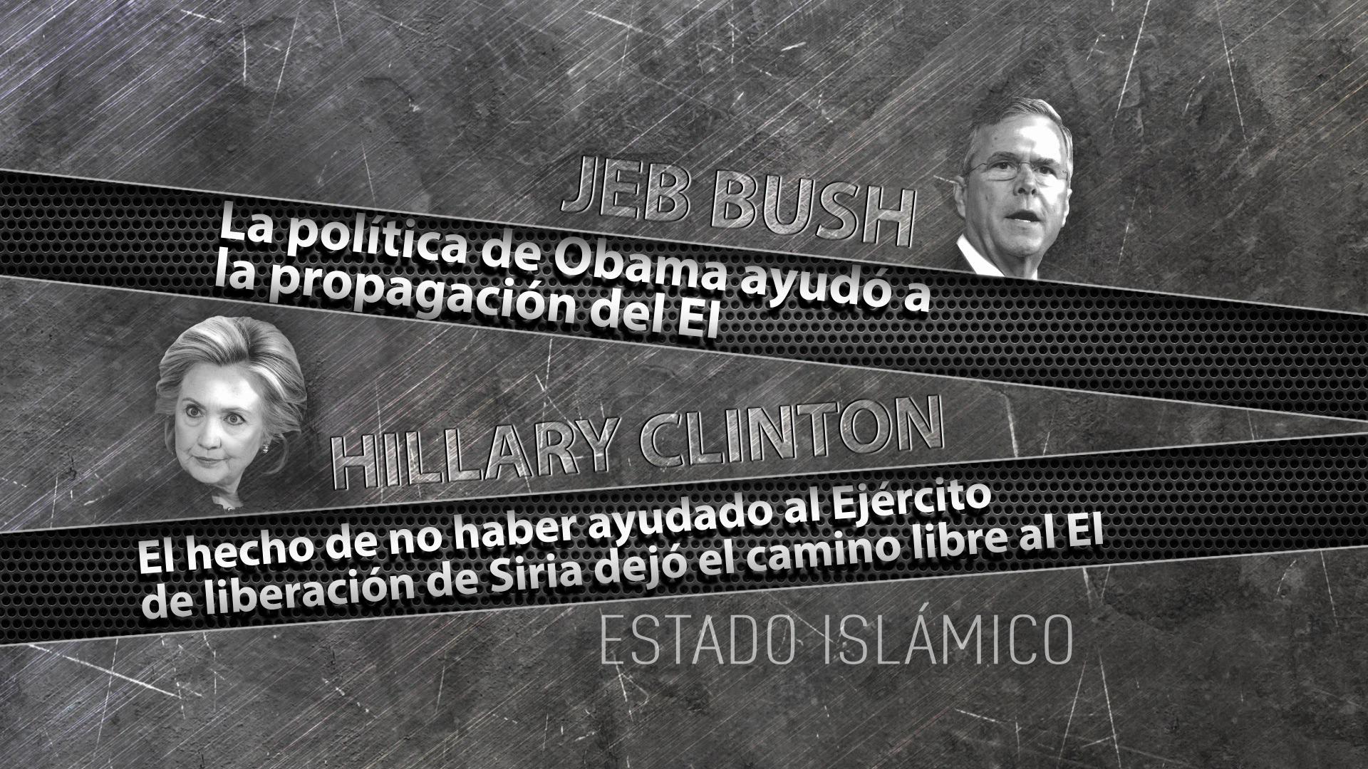 Las posturas de Jeb Bush y Hillary Clinton sobre el Estado Islámico