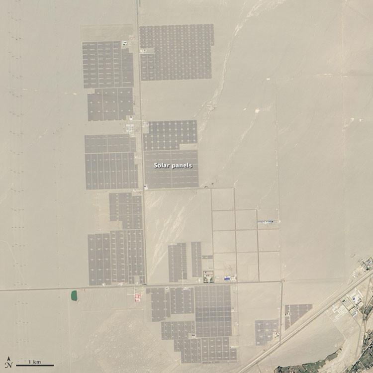 Planta solar en desierto Gobi en 2015