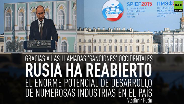 Vladímir Putin habla sobre el destino económico de Rusia en el Foro Económico Internacional