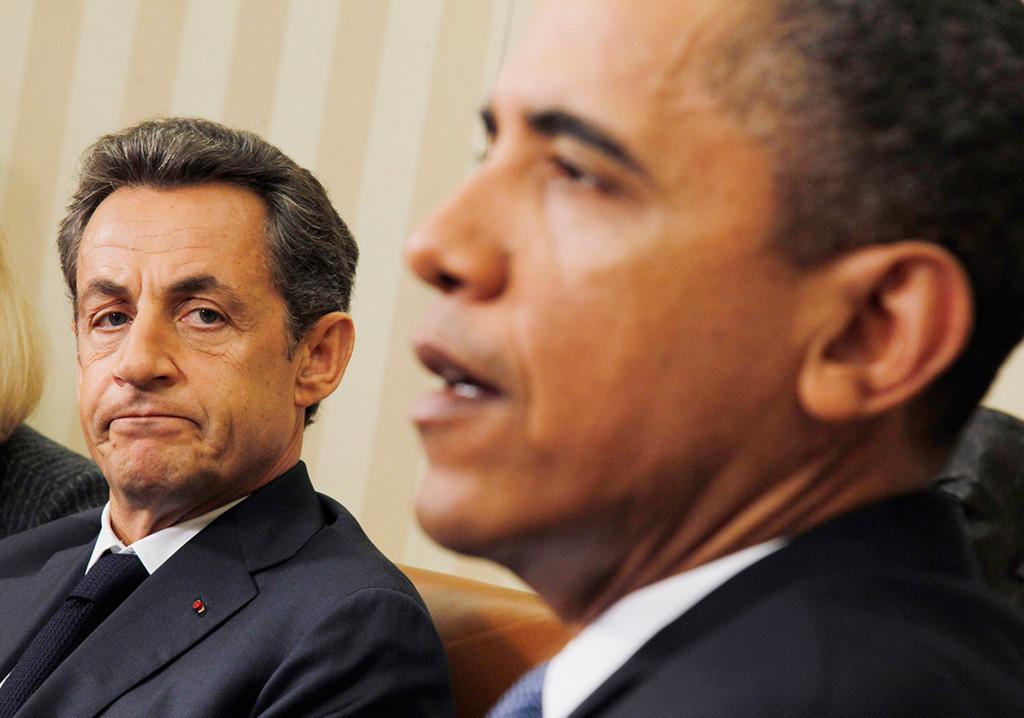 Nicolás Sarkozy y Barack Obama en 2011