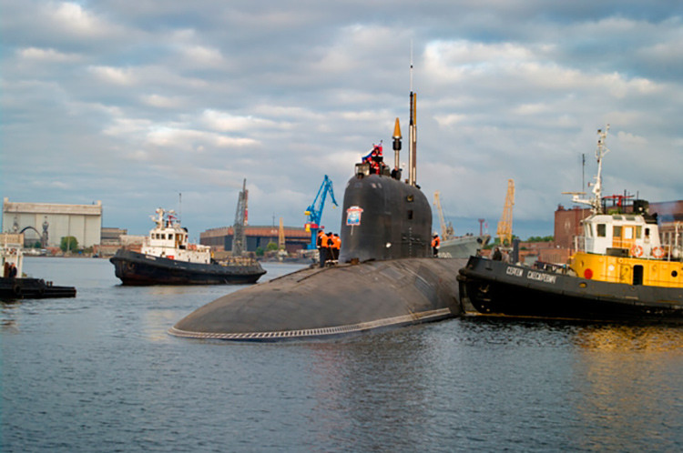 El submarino nuclear K-560 Severodvinsk