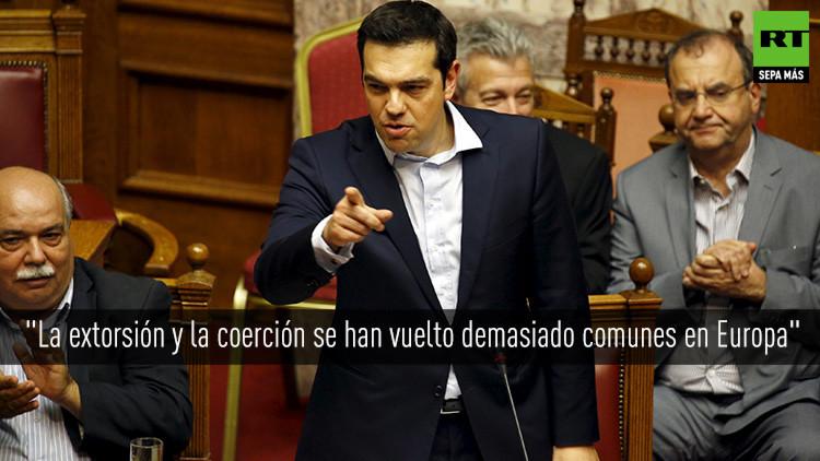 """Tsipras: """"Grecia no es un visitante en Europa sino un miembro con los mismos derechos"""""""