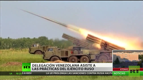 Delegación venezolana asiste a las prácticas del Ejército ruso