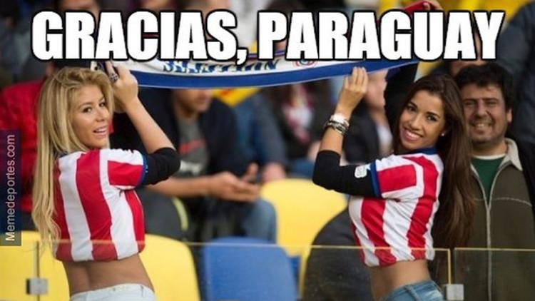 La semifinal Argentina-Paraguay en divertidos memes de los internautas