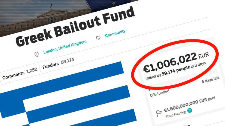 Los internautas donan más de un millón de euros a Grecia en solo tres días