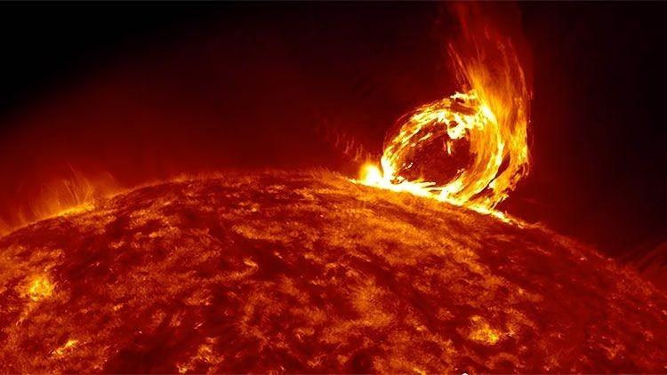 La NASA muestra el virulento 'escupitajo de satán', la más reciente erupción solar