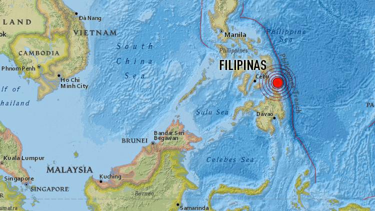 Un sismo de magnitud 6,0 se registra cerca de Filipinas