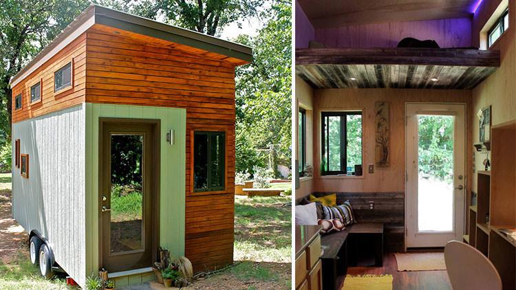 'No' a los bancos: Se construye una mini-casa para no endeudarse mientras termina la carrera