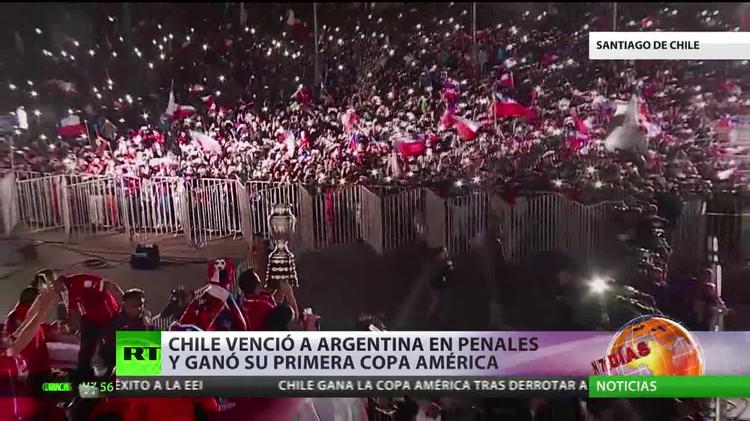Chile vence a Argentina en los penaltis y gana su primera Copa América