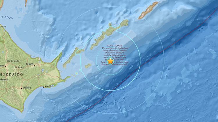 Fuerte sismo de magnitud 6,3 se registra al este de las islas Kuriles