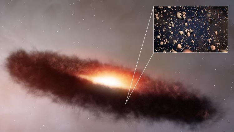 Observan por primera vez un anillo de piedra alrededor de una estrella