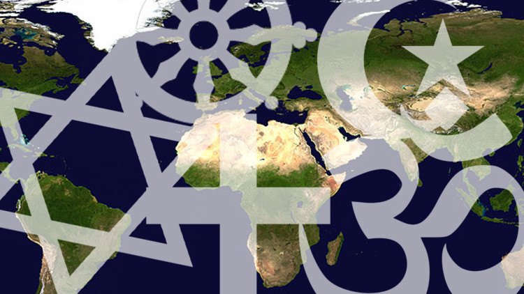 Un mapa muestra la expansión de las grandes religiones por el mundo