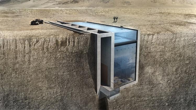 Fotos: Así es la impactante casa incrustada en un acantilado en armonía con la naturaleza