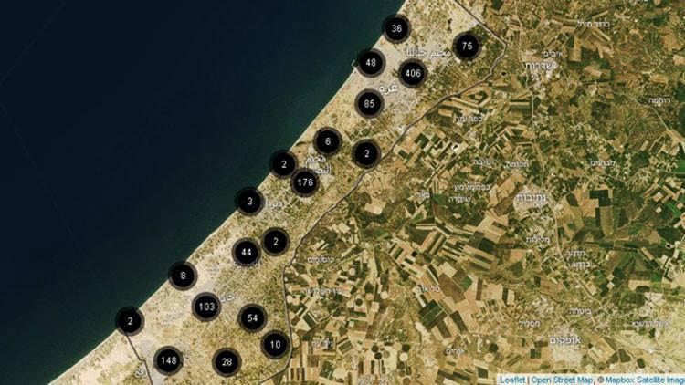Nuevo mapa interactivo detalla los ataques israelíes contra Gaza un año después