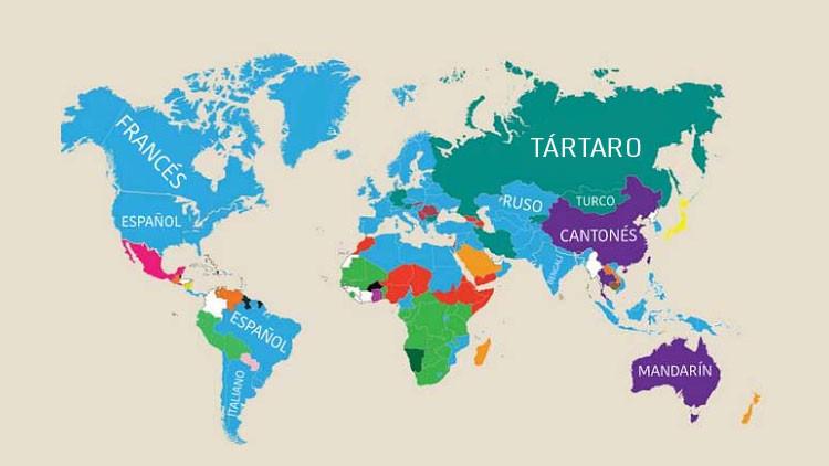 Las segundas lenguas de cada región del mundo en una sorprendente infografía