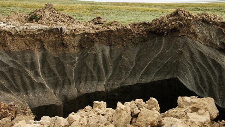 El misterioso foso de Yamal se convierte en un lago