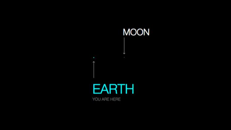 Mapa interactivo: Si la Luna fuera un píxel, ¿qué tan grande sería el Sistema Solar?