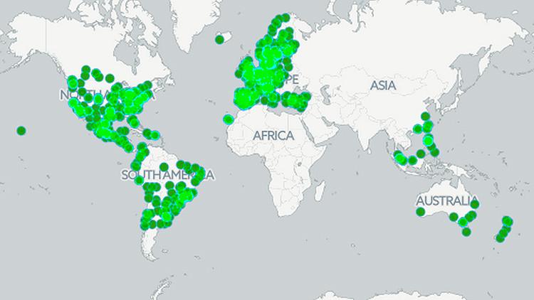 El mapa que permite explorar los gustos musicales en ciudades de todo el mundo