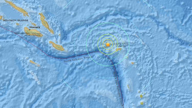 Alerta de tsunami en el Pacífico tras terremoto de magnitud 7,5 cerca de las Islas Salomón