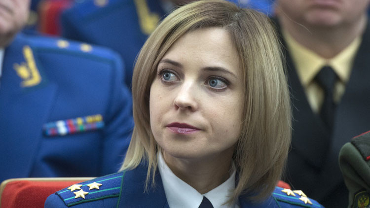 Poklónskaya obtendría el cargo de diputado parlamentario como miembro del partido pro-Putin