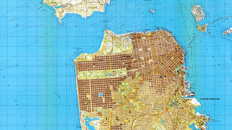 Mapas: Conozca la precisión con la que la URSS veía EE.UU. durante la Guerra Fría