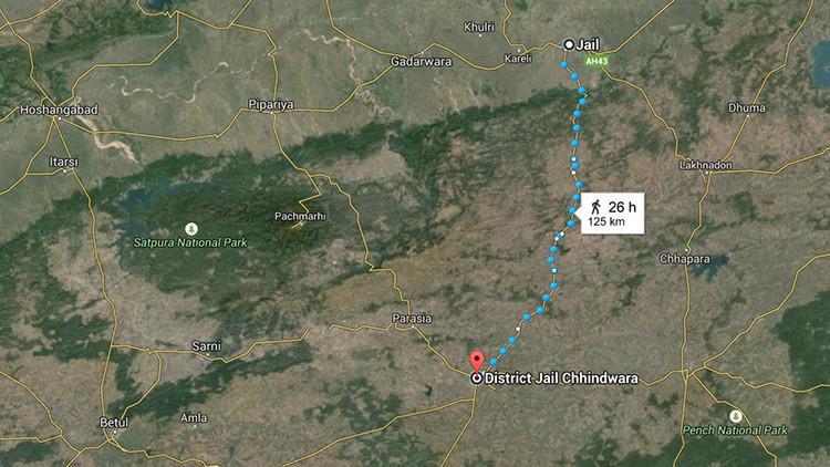 India: Reo escapa de una prisión que no le gustó y se entrega en otra, con mejores condiciones