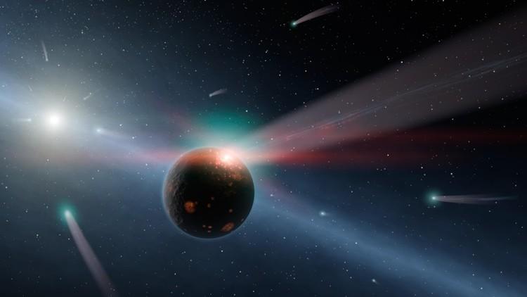 ¿Qué pasaría si un cometa gigante chocara contra el Sol?