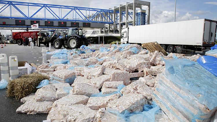 Francia contabiliza los daños que causa al sector lácteo, cárnico y agrícola el embargo ruso