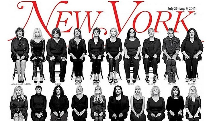 Las 35 mujeres víctimas sexuales de Bill Cosby, reunidas en una impactante portada
