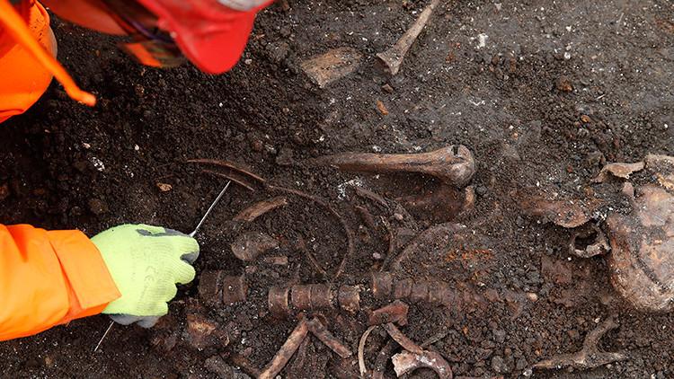 Hallan un extraño esqueleto en el 'Stonehenge ruso'