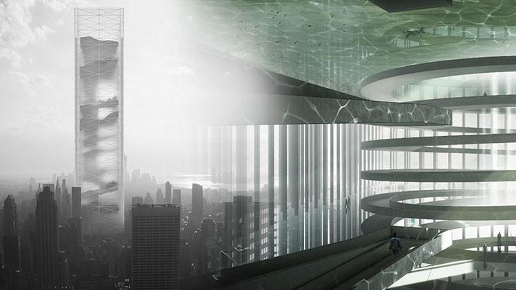 El rascacielos del futuro: Un 'jardín secreto' con montañas, desiertos y cascadas dentro
