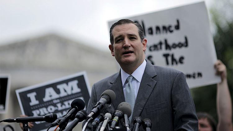 El candidato republicano Ted Cruz acusa a Obama de financiar al terrorismo islamista